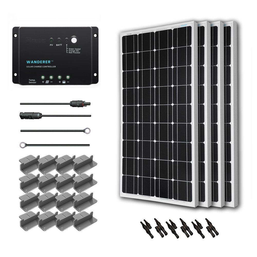 Renogy 400 Watt 12 Volt Monocrystalline Solar Starter Kit with Wanderer review