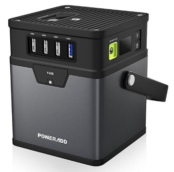 PowerAdd 185 portable solar generator